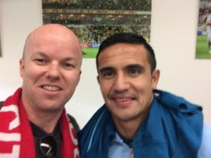 Tim Cahill shares another of his passions: Careerbox