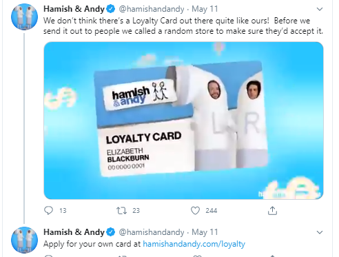 Hamish & Andy launch a Loyalty Card for lol's. But it's actually good.